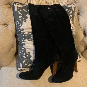 Gucci (2013 Fall) Black suede knee boots